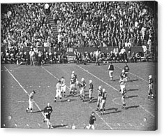 American Football Match, (b&w), Elevated View Acrylic Print by George Marks