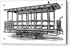 American: Streetcar, 1880s Acrylic Print by Granger