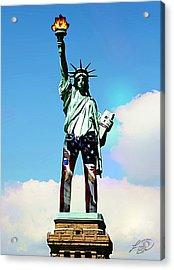 American Style Acrylic Print by ABA Studio Designs