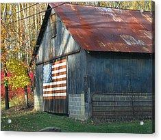 Acrylic Print featuring the photograph Americana Barn by Clara Sue Beym