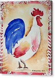 Americana Rooster Acrylic Print by Regina Ammerman