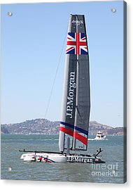 America's Cup In San Francisco - Great Britain Ben Ainslie Racing Sailboat - 5d18248 Acrylic Print by Wingsdomain Art and Photography
