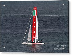 America's Cup In San Francisco - Italy Luna Rossa Paranha Sailboat - 7d19041 Acrylic Print by Wingsdomain Art and Photography