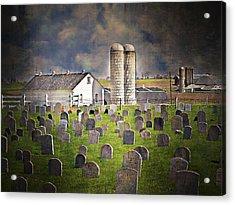Amish Grave Yard Acrylic Print by Kathy Jennings