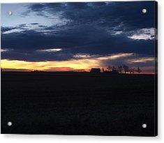 Amish Sunrise Acrylic Print by Joshua House