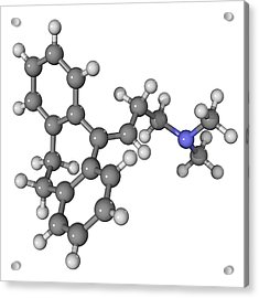 Amitriptyline Antidepressant Molecule Acrylic Print by Laguna Design