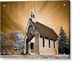 Amityville Chapel Acrylic Print by Steve Zimic