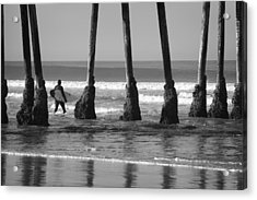 Among The Pilings Acrylic Print
