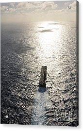 Amphibious Assault Ship Uss Boxer Acrylic Print by Stocktrek Images