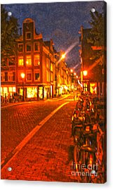 Amsterdam By Night - 02 Acrylic Print by Gregory Dyer