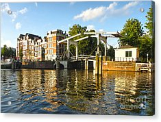 Amsterdam Canal Drawbridge - 03 Acrylic Print by Gregory Dyer