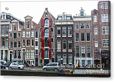 Amsterdam Canal Houses Acrylic Print by Gregory Dyer