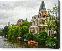 Amsterdam Canal Mansion Acrylic Print by Gregory Dyer