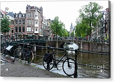 Amsterdam Canal View - 04 Acrylic Print by Gregory Dyer