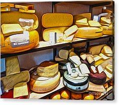 Amsterdam Cheese Shop Acrylic Print by Gregory Dyer