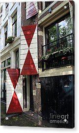 Amsterdam House Facade Acrylic Print by Sophie Vigneault