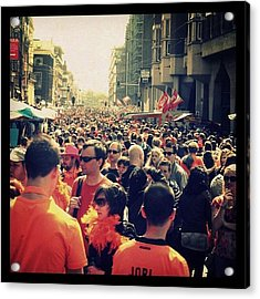 Amsterdam Is Rushing On Queen's Day Acrylic Print