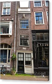 Amsterdam Skinny House Acrylic Print by Gregory Dyer