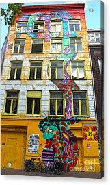 Amsterdam Snake Graffiti Mural Acrylic Print by Gregory Dyer
