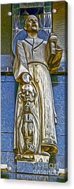 Amsterdam Statue Acrylic Print by Gregory Dyer