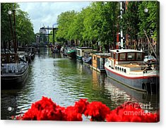 Amsterdam Summer Scene Acrylic Print by Sophie Vigneault