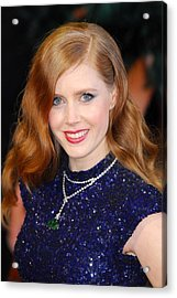 Amy Adams Wearing A Cartier Necklace Acrylic Print by Everett