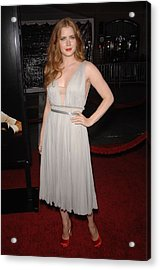 Amy Adams Wearing A J. Mendel Dress Acrylic Print by Everett
