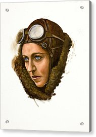 Acrylic Print featuring the painting Amy Johnson by Karen Wilson