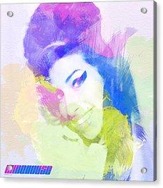 Amy Winehouse Acrylic Print by Naxart Studio