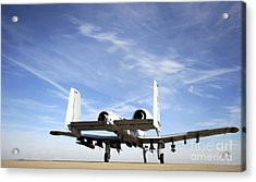 An A-10 Thunderbolt II Taxies Acrylic Print by Stocktrek Images