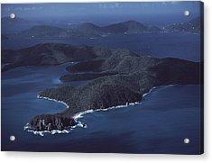 An Aerial Of Saint John Island Acrylic Print by Ira Block