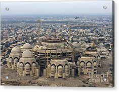 An Aerial View Of Saddam Hussiens Great Acrylic Print by Terry Moore