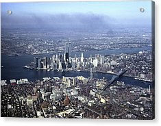 An Aerial View Of The Twin Towers Acrylic Print by Rex A. Stucky