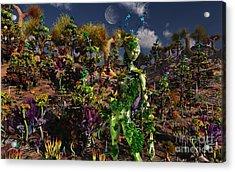 An Alien Being Blending Acrylic Print by Mark Stevenson