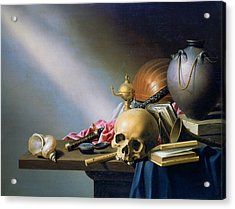'an Allegory Of The Vanities Of Human Life' By Harmen Steenwych Acrylic Print by Photos.com