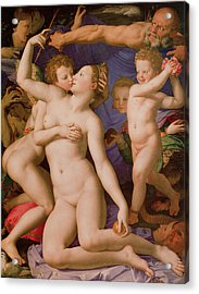 An Allegory With Venus And Cupid Acrylic Print by Agnolo Bronzino