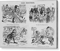 An Anti-irish Cartoon Entitled Irish Acrylic Print