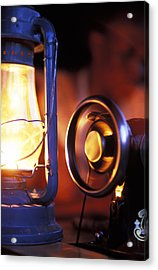 An Antique Sewing Machine Spinning Acrylic Print by Jason Edwards