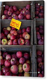 An Apple A Day Acrylic Print by April Bielefeldt