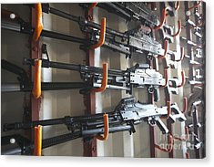 An Armory Of Pk Machine Guns Designed Acrylic Print
