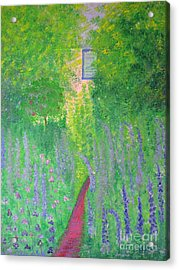 Acrylic Print featuring the painting An Artist's Cottage by Stacey Zimmerman