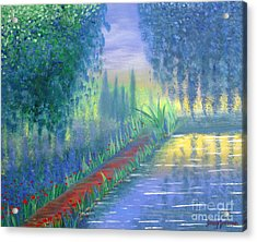 Acrylic Print featuring the painting An Artist's Garden by Stacey Zimmerman