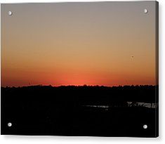 An Autumn Sunset Acrylic Print by Kim Galluzzo Wozniak