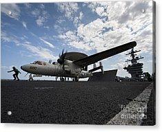 An E-2c Hawkeye Aircraft Prepares Acrylic Print by Stocktrek Images