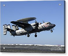 An E-2c Hawkeye Conducts A Touch-and-go Acrylic Print by Stocktrek Images