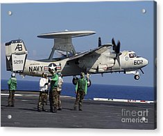 An  E-2c Hawkeye Launches From Aboard Acrylic Print by Stocktrek Images