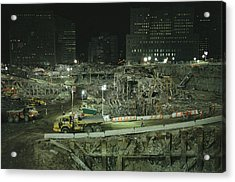 An Elevated View Of Ground Zeros Acrylic Print by Ira Block