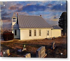 An Evening At Mcelwee Chapel Acrylic Print by Kathy Jennings