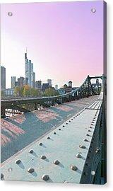 An Evening In Frankfurt. Acrylic Print by Ixefra