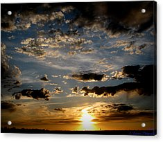 An Evening Walk Under The Sunset Acrylic Print by Aaron Burrows